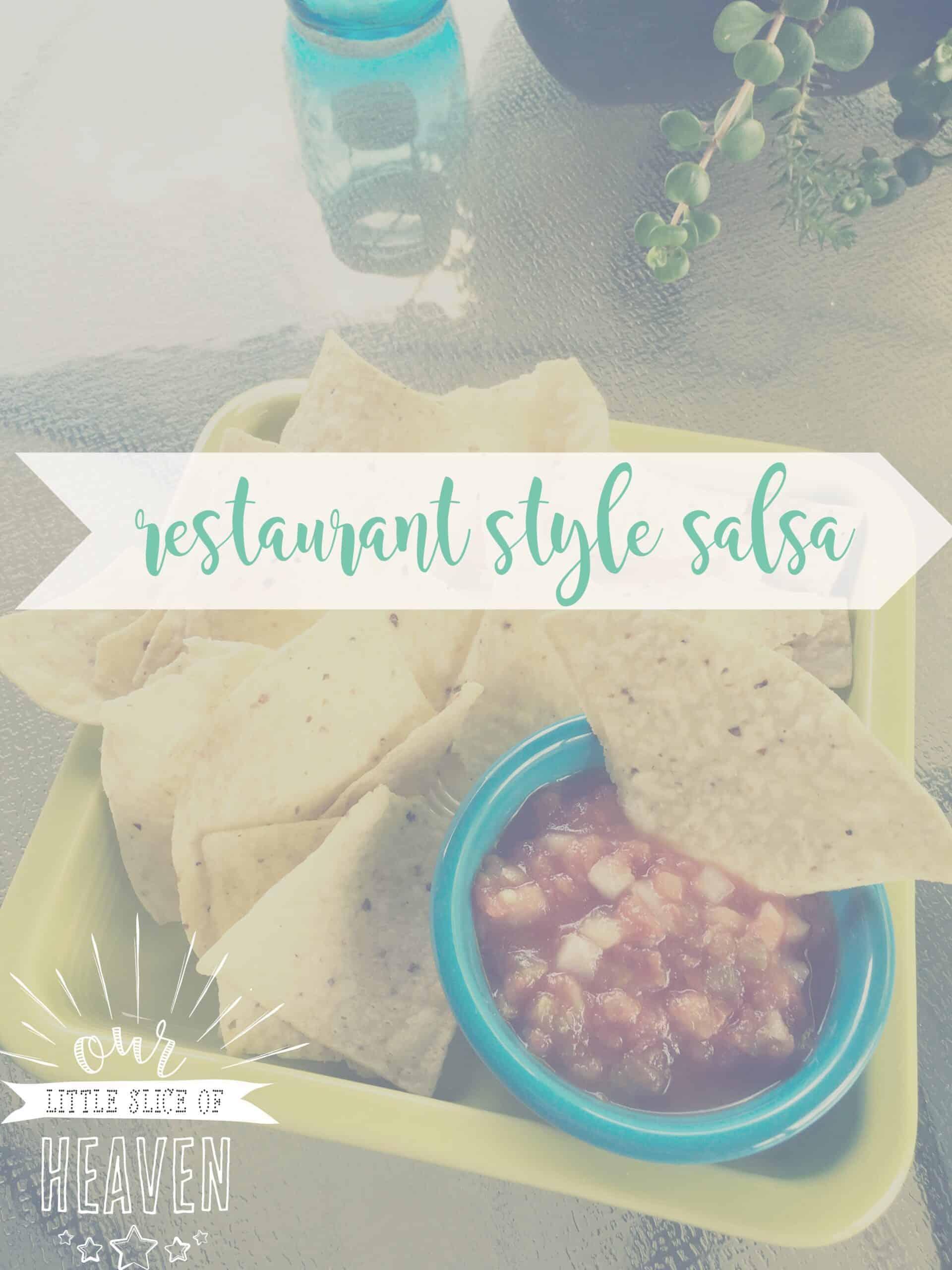 restaurant style salsa recipe cover