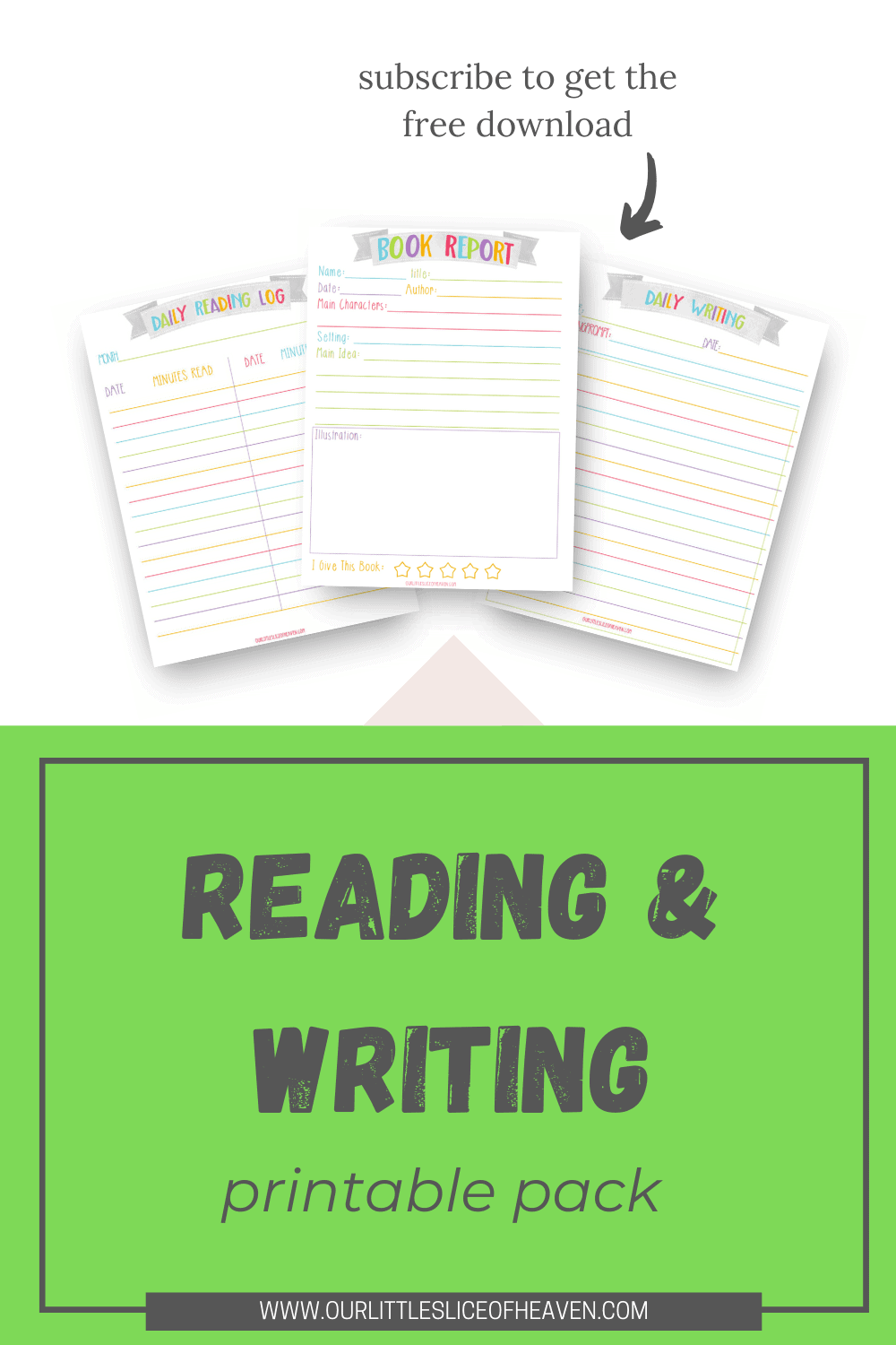 reading & writing printable pack