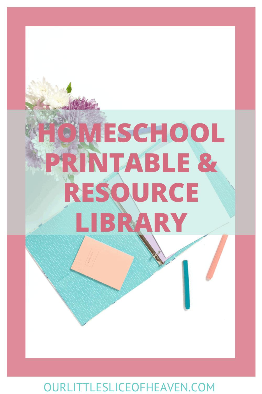 homeschool printable and resource library