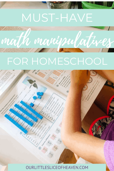 must have math manipulatives for homeschool